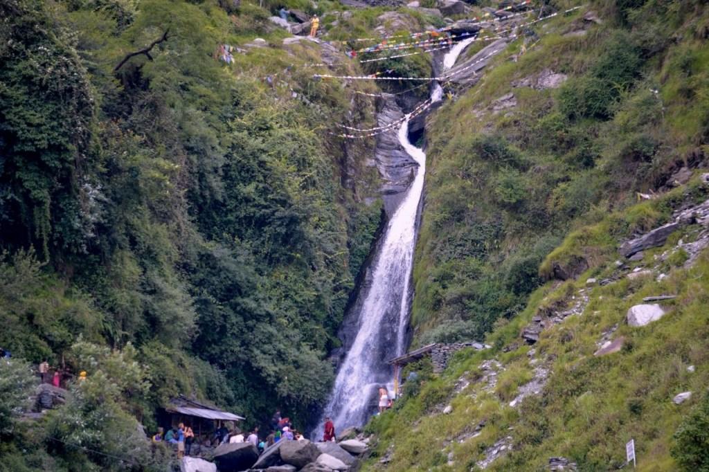 bhasunag waterfall in macleodganj, himachal