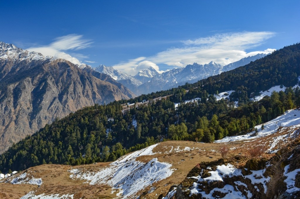 View of Mount Nanda Devi Peak from Auli