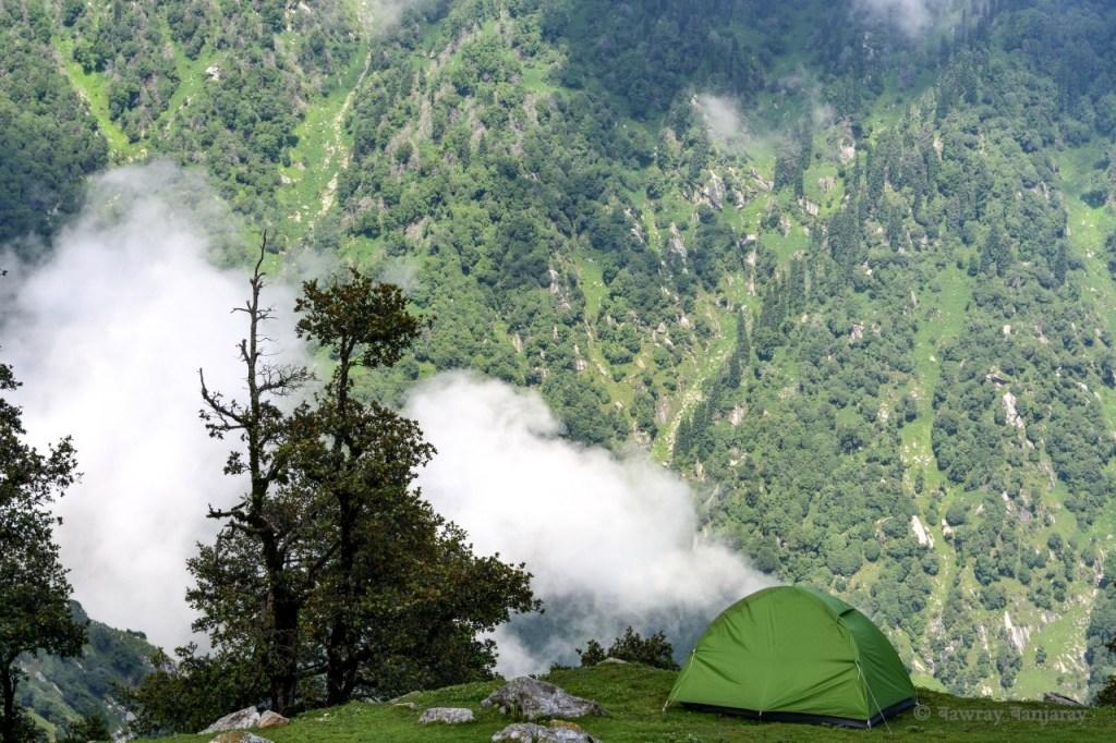 bawray banjaray camping on Triund Top