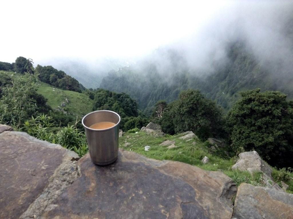 Tea point on Triund Trek,