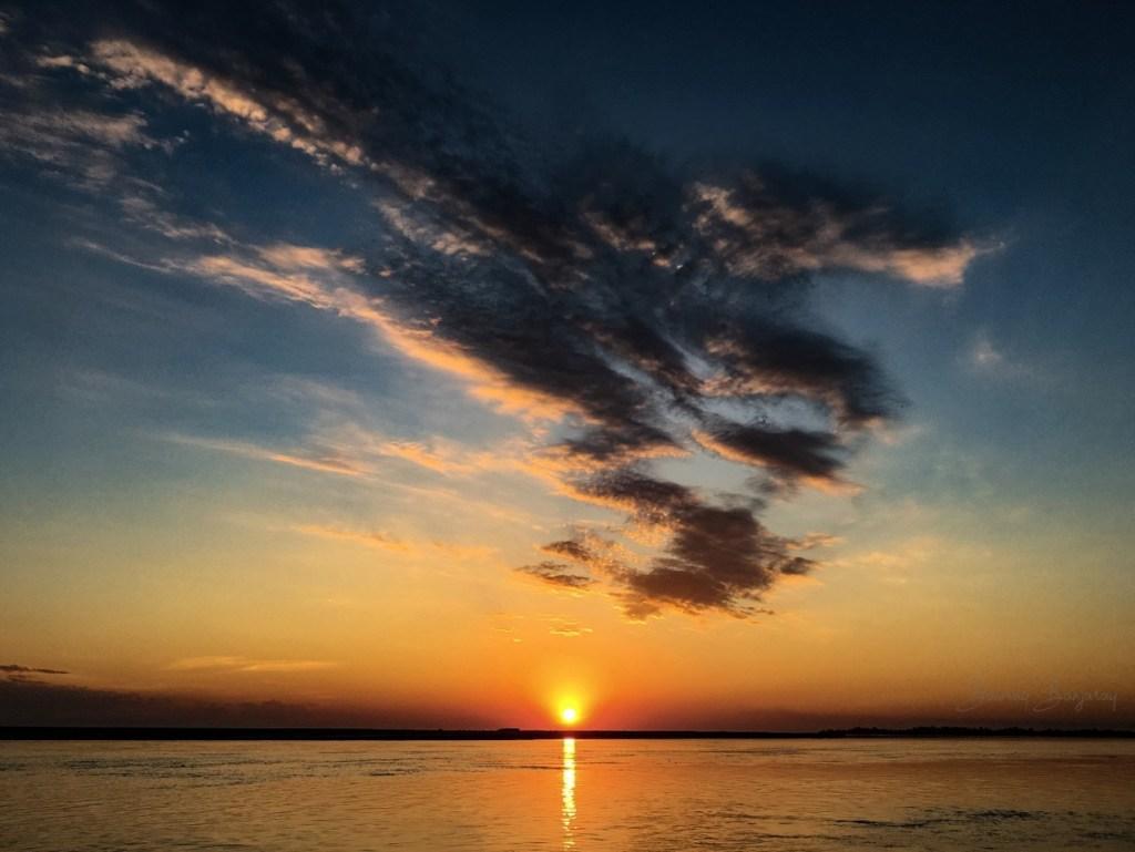 Abeautifl sunset view in majuli