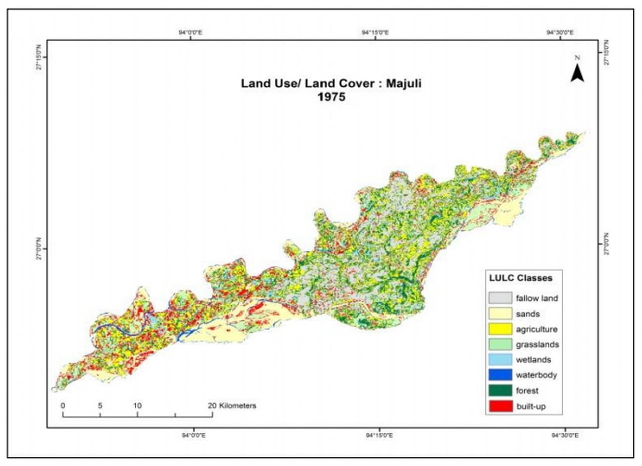 Land Use Patern Majuli 1975