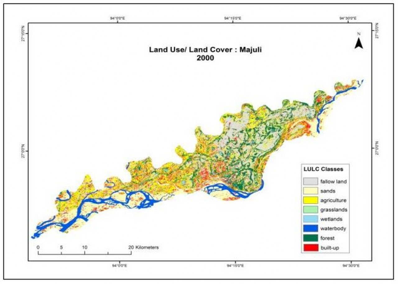 Land Use Patern Majuli 2000