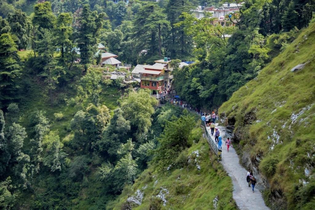 Trek to bhagsunag waterfall in mcleodganj