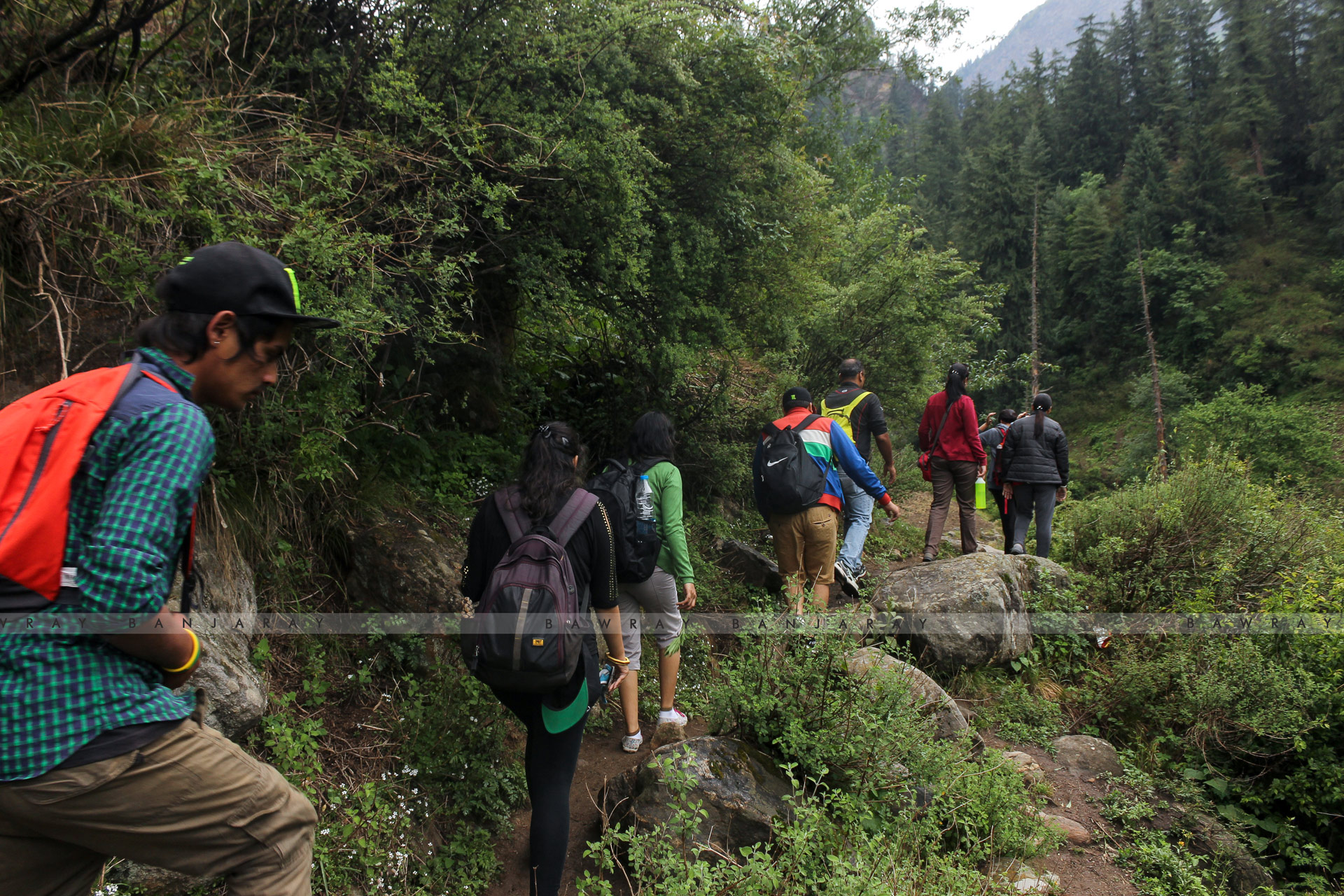 A local guide on trek to Himalayas