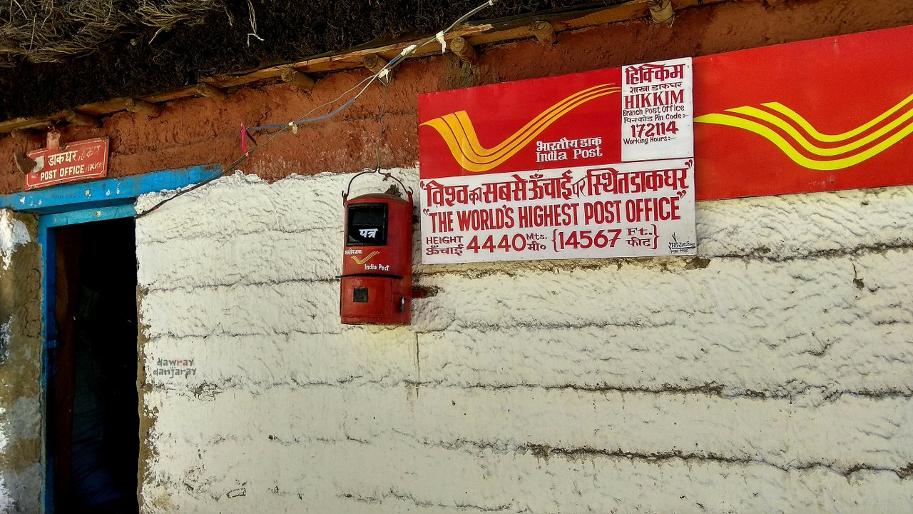 Hikkim Post Office is the highest post office in the world