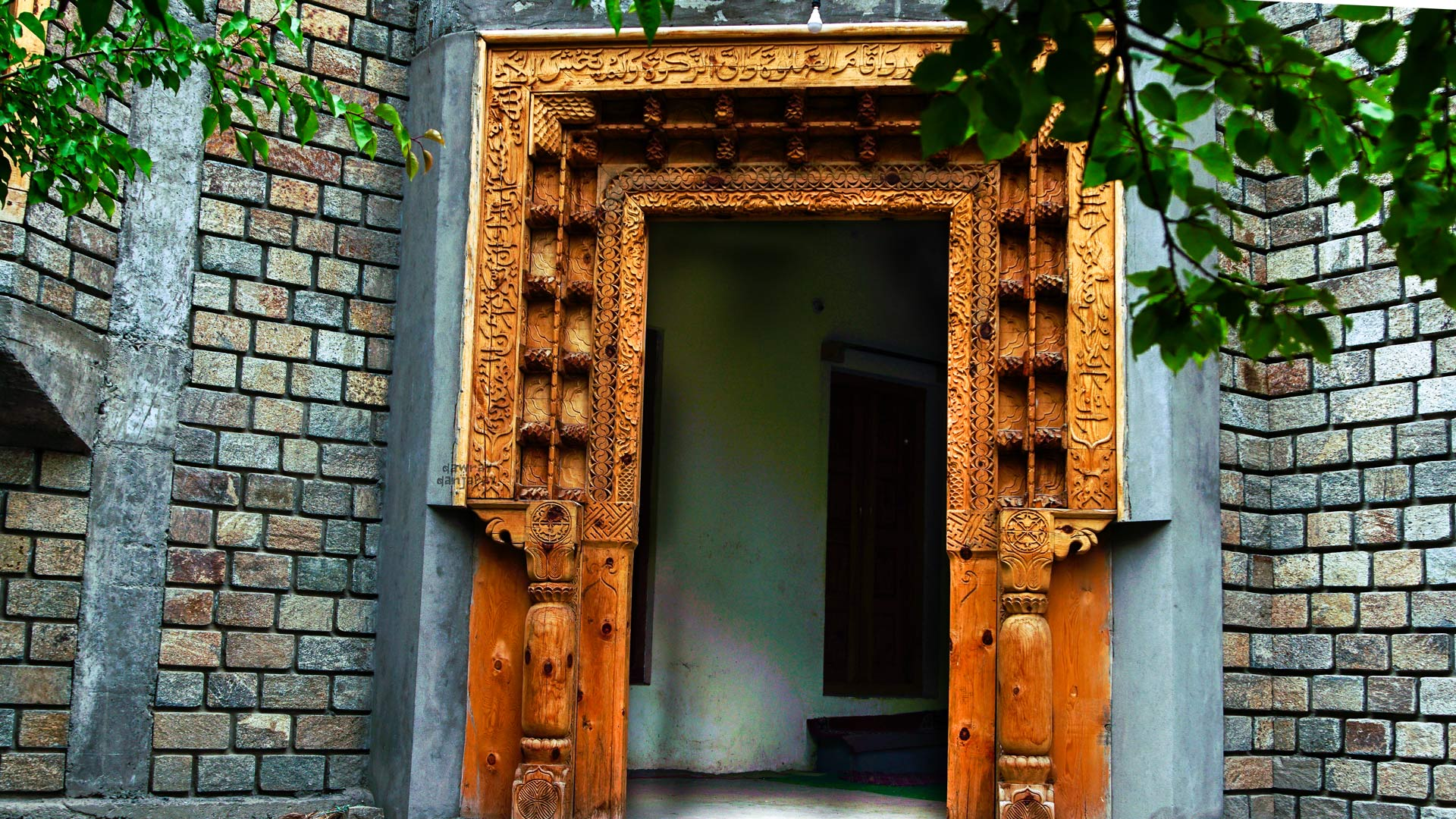 A traditional Wooden Door in Turtuk Village of Leh