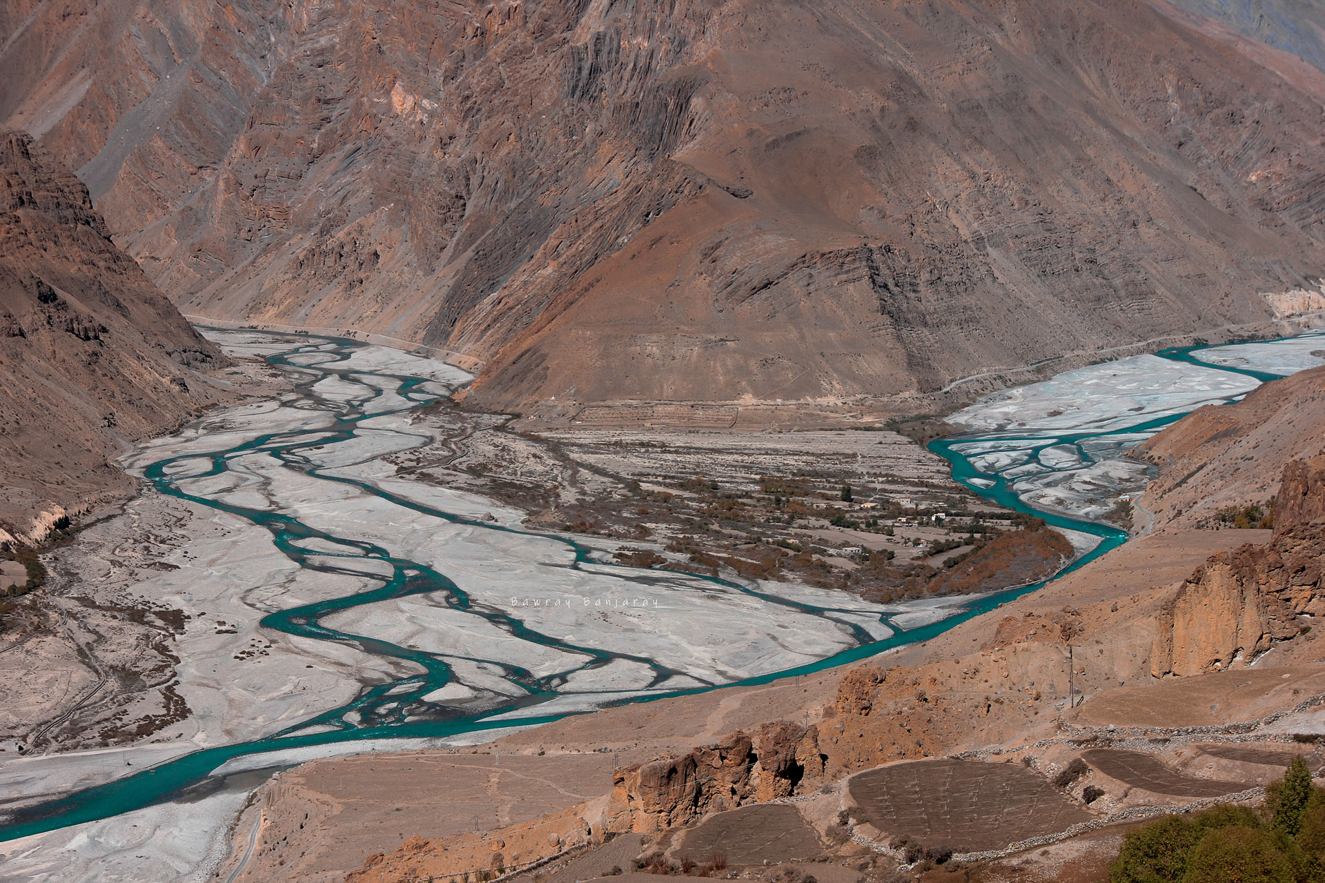 Confluence of Spiti and Pin Rivers