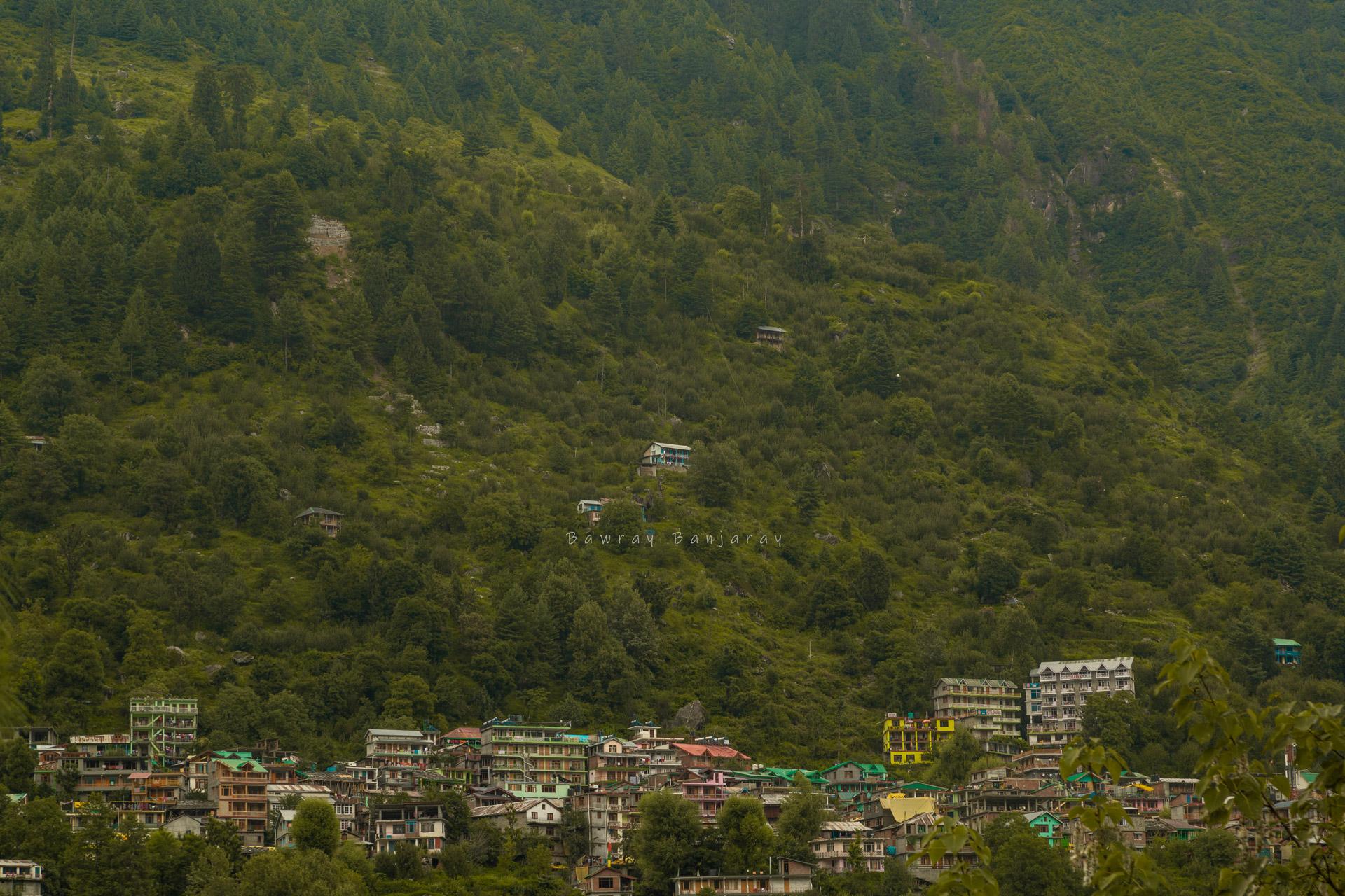 view of Vashisht Homestay from Manali