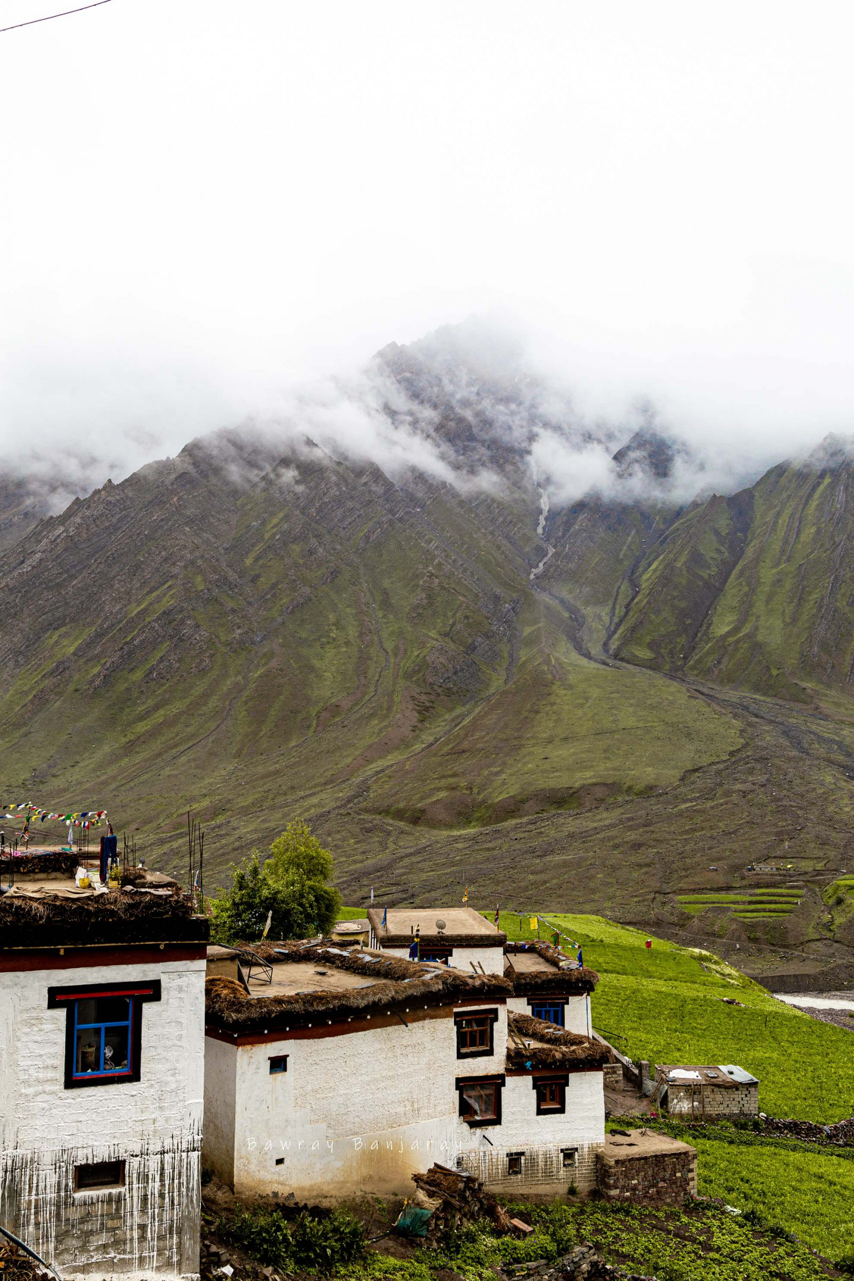 Traditional houses of Villages of Spiti Valley