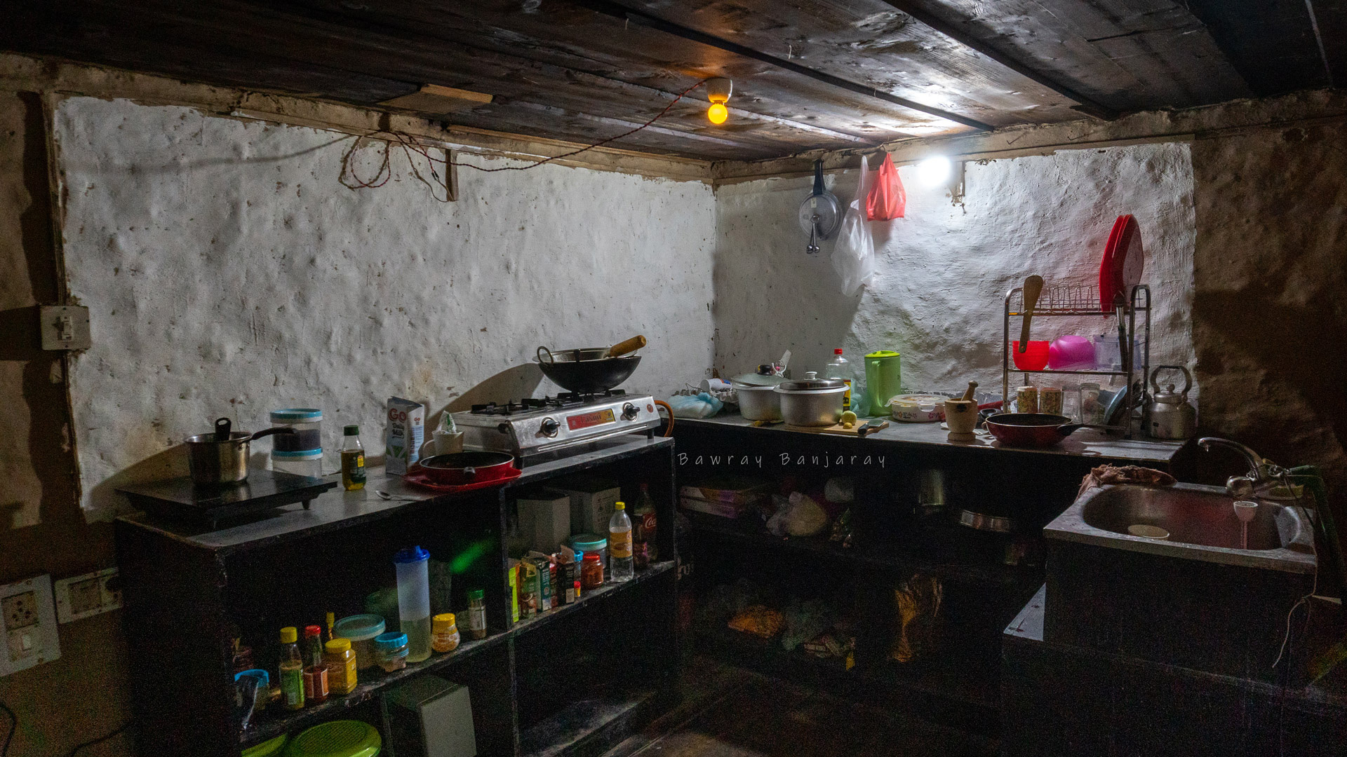 Kitchen of Homestay in Vashisht