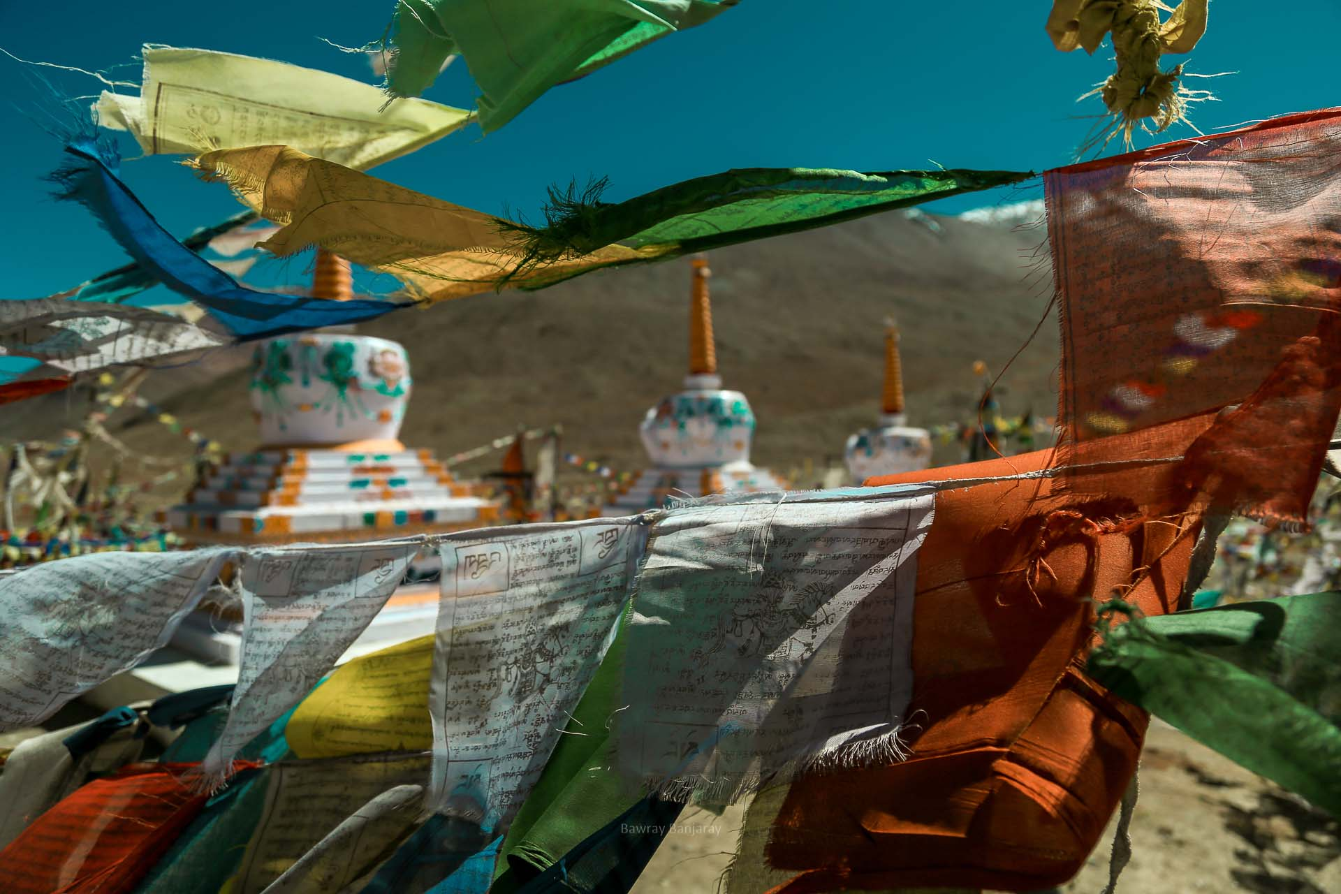 The BUddhist structures at the Kunzum Mata Temple