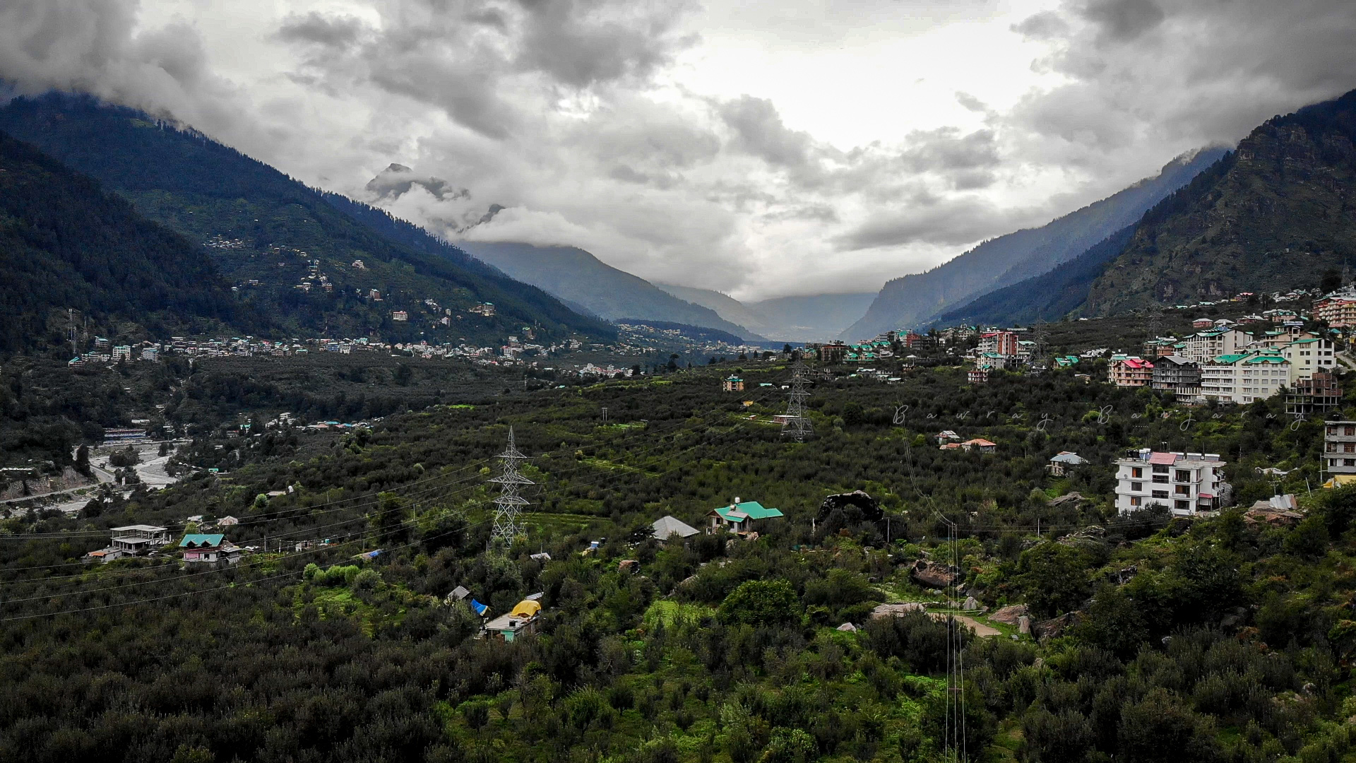 View from the Lagom Homestay in Manali