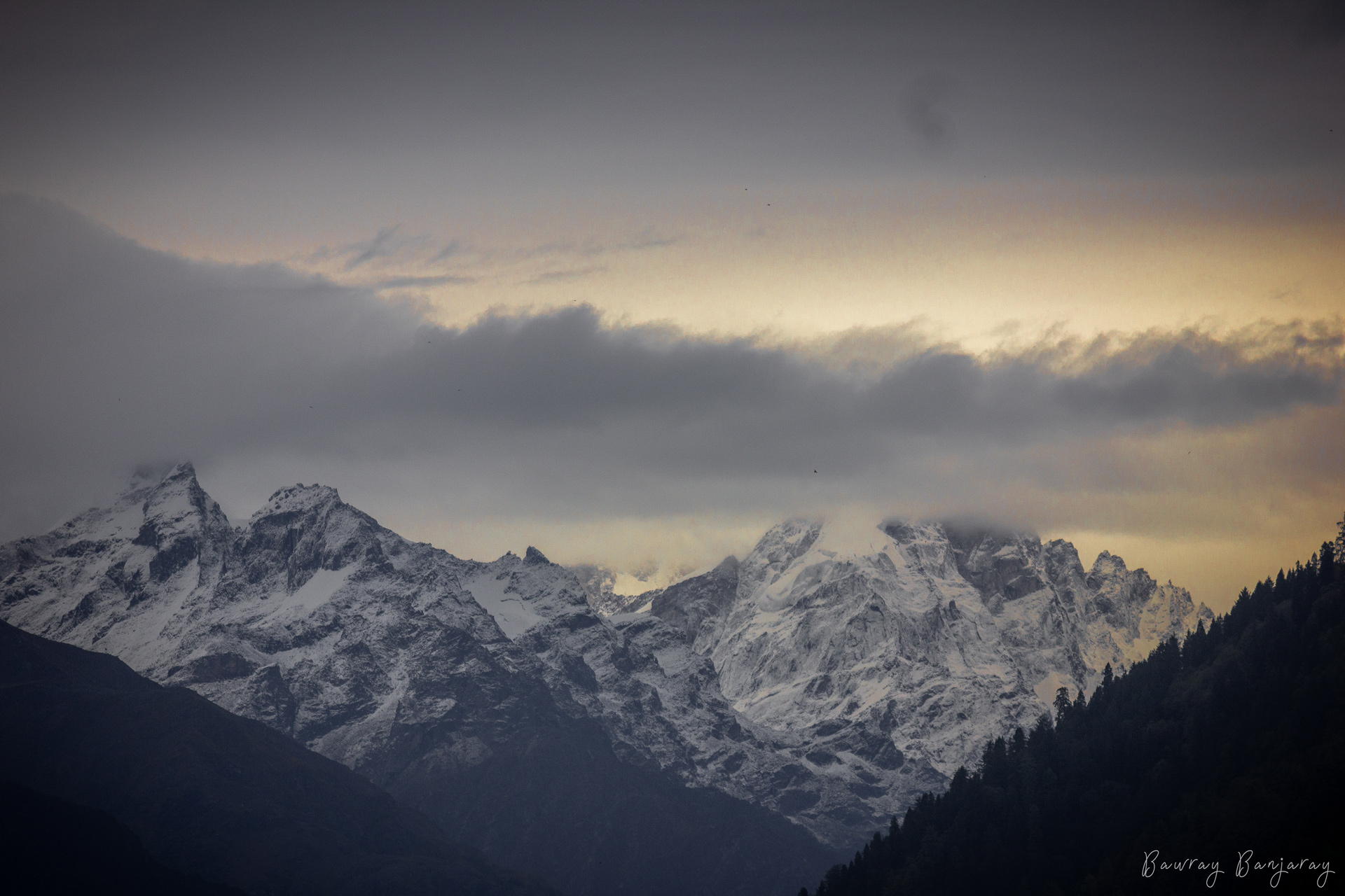 Sunset in Great Himalayan National Park