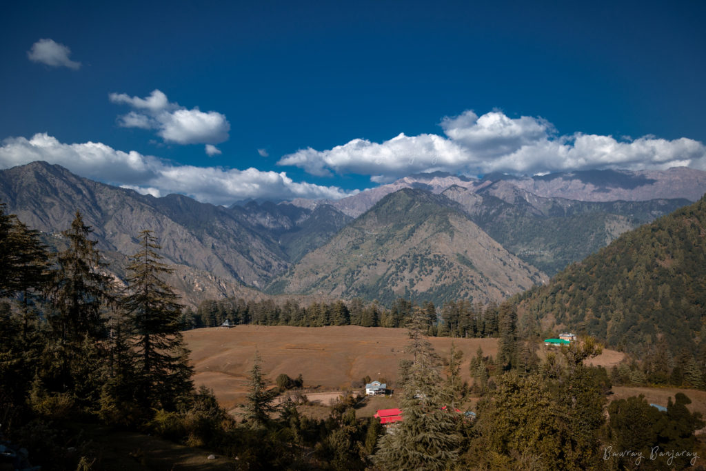 The Shangarh Meadow is a popular offbeat place to visit in Himachal Pradesh