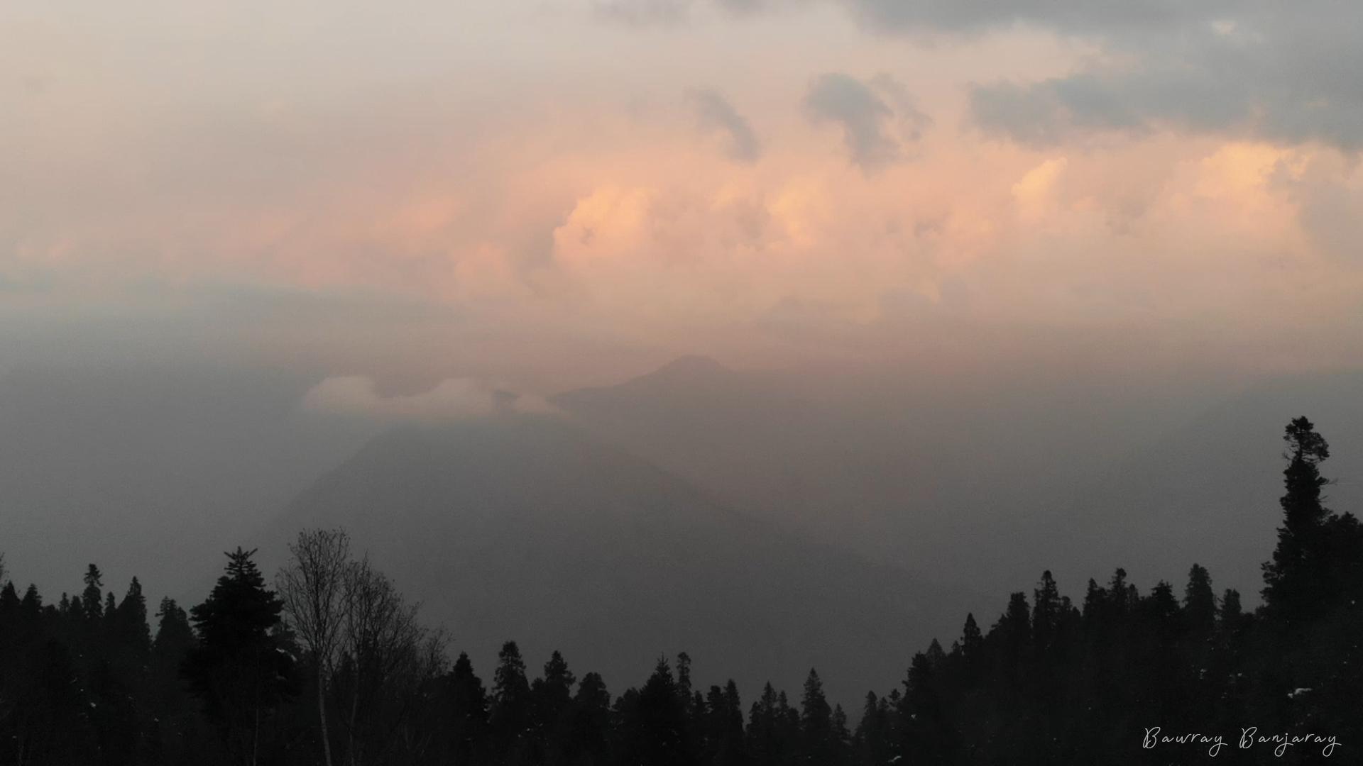 Sunset in Sainj Valley