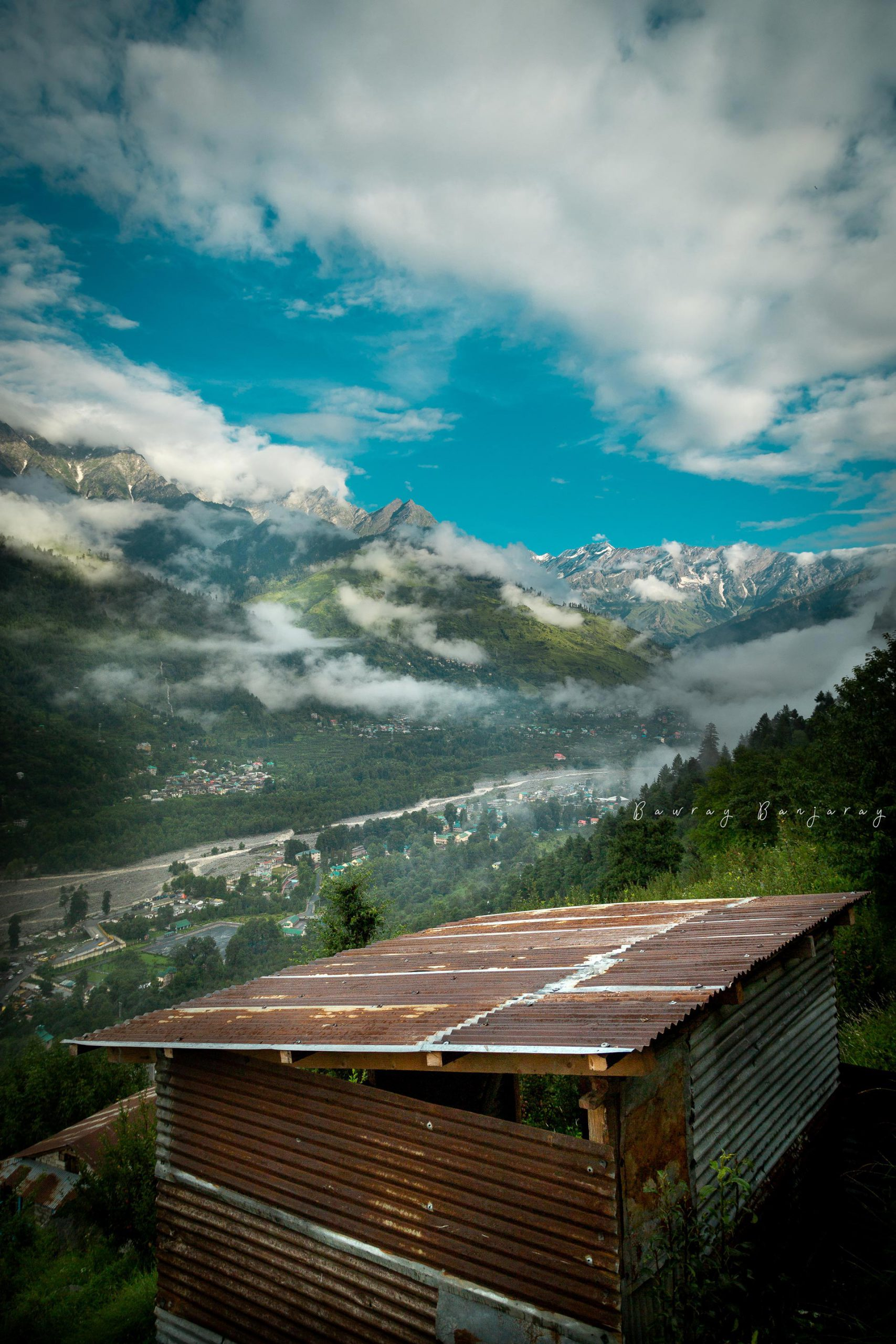 Solang valley Friendship peak from Manali