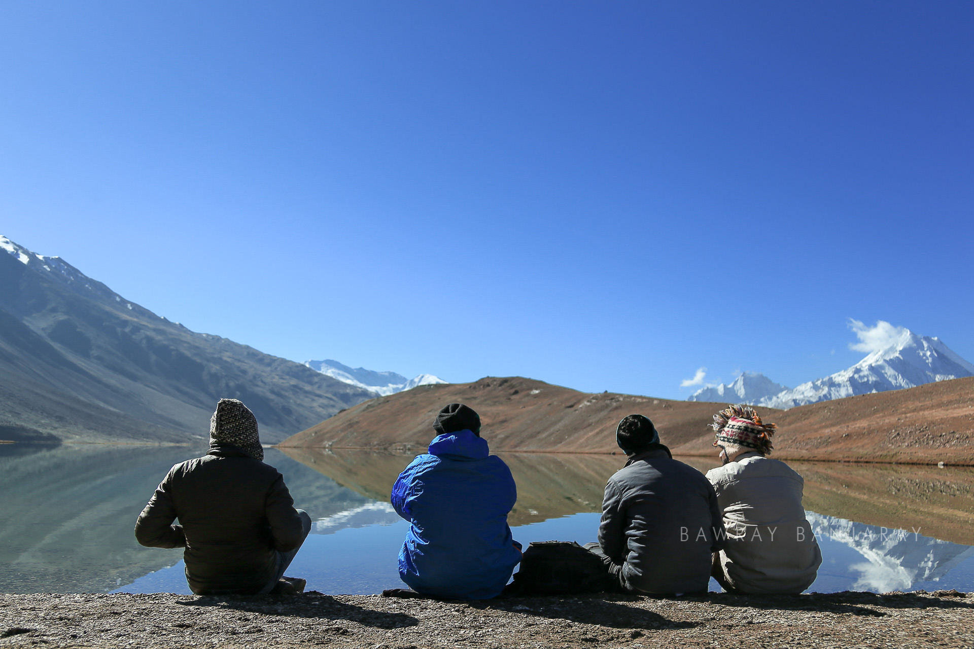Bawray Banjaray at Chandra Taal while on their road trip to Spiti Valley