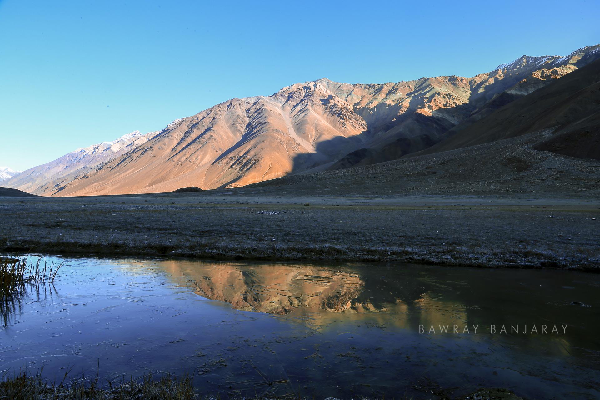 Frozen Chandra Taal Water