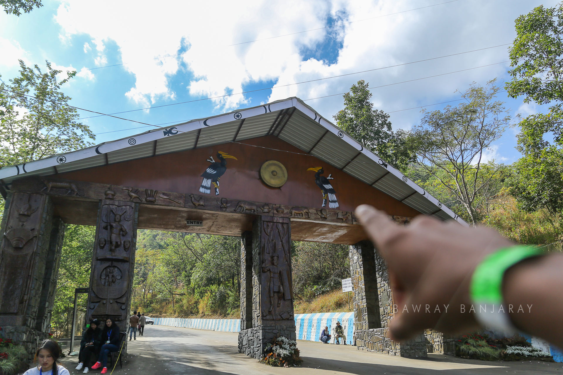 Entrance gate of the Naga Heritage Village where the Nagaland Tourism Board hosts the Hornbill Festival every year