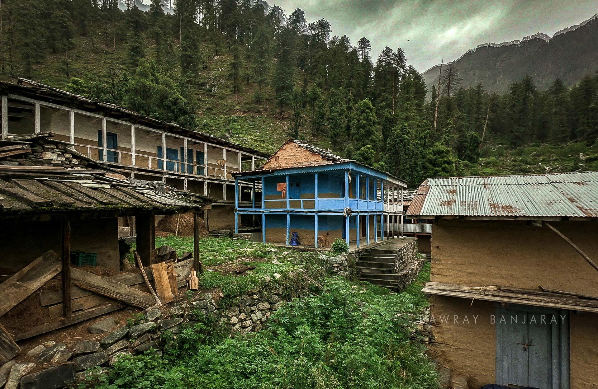 Diyaugi Village HOme near Baga Sarahan Meadow in Kullu