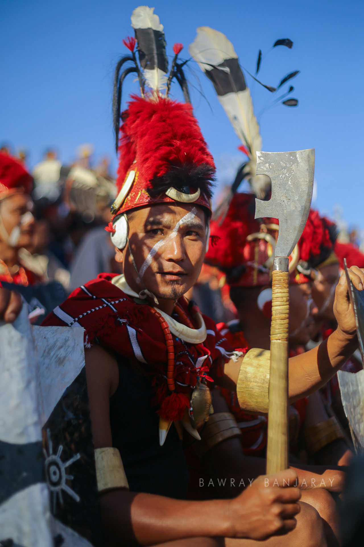 A young performer at the festival in Nagaland
