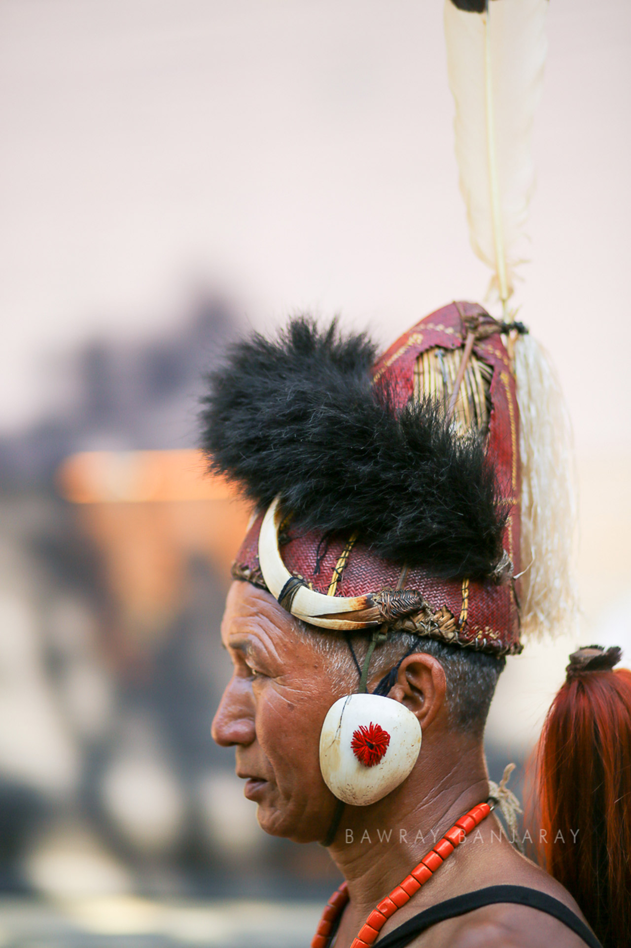 The performers and their colorful attires are a mazor attractions for tourists in Nagaland