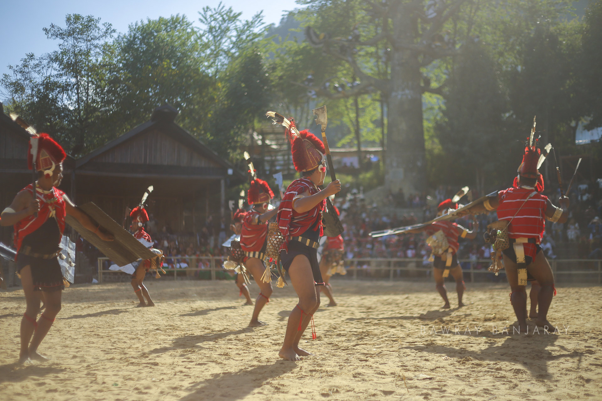 The hornbill festival is one of the most popular tourist attractions of Nagaland owing to the performances like these