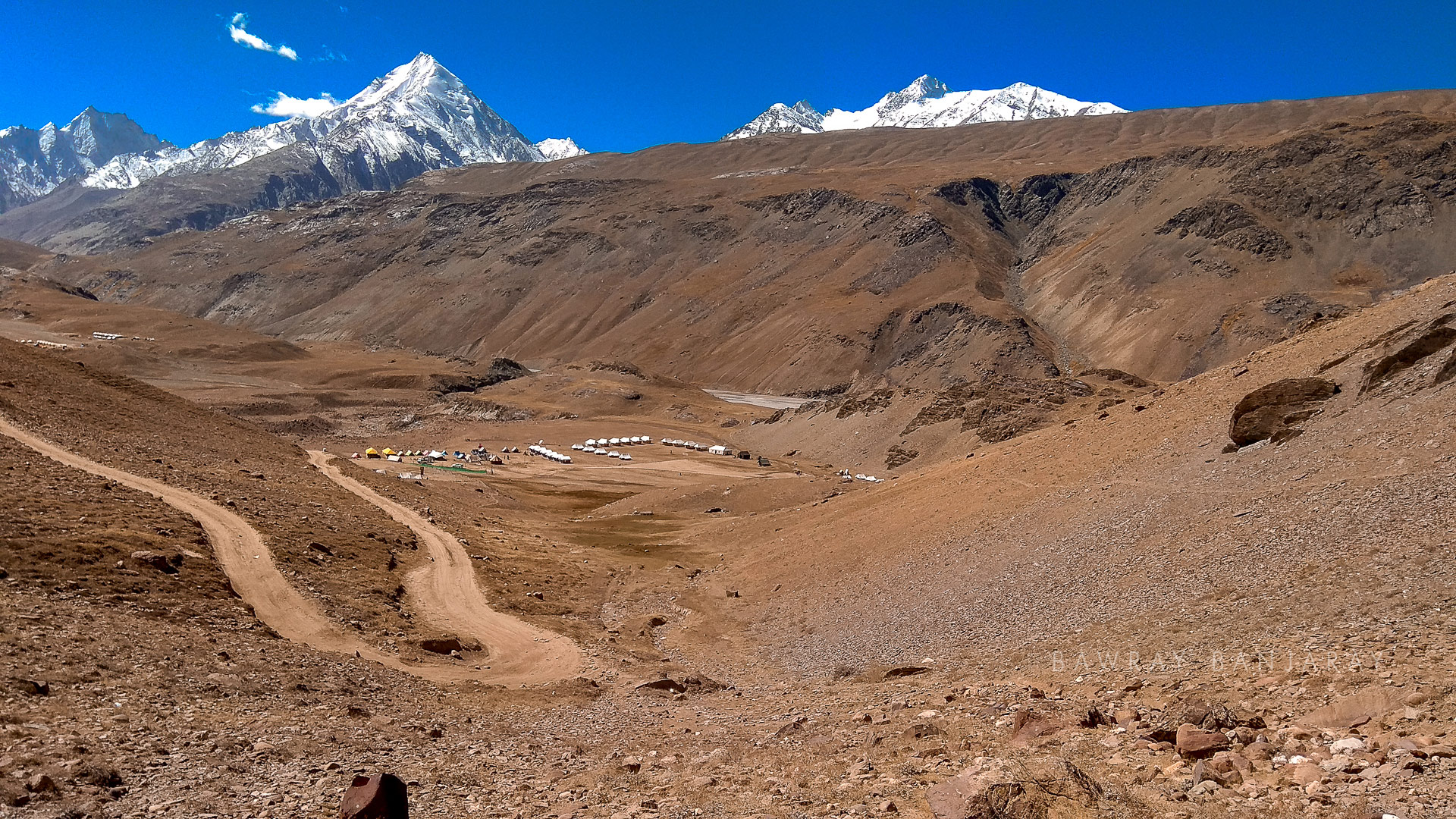 Road to CHandra Taal from the camp site