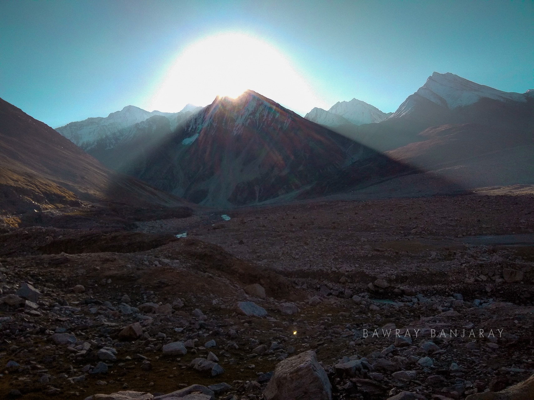 Sunset in Spiti valley