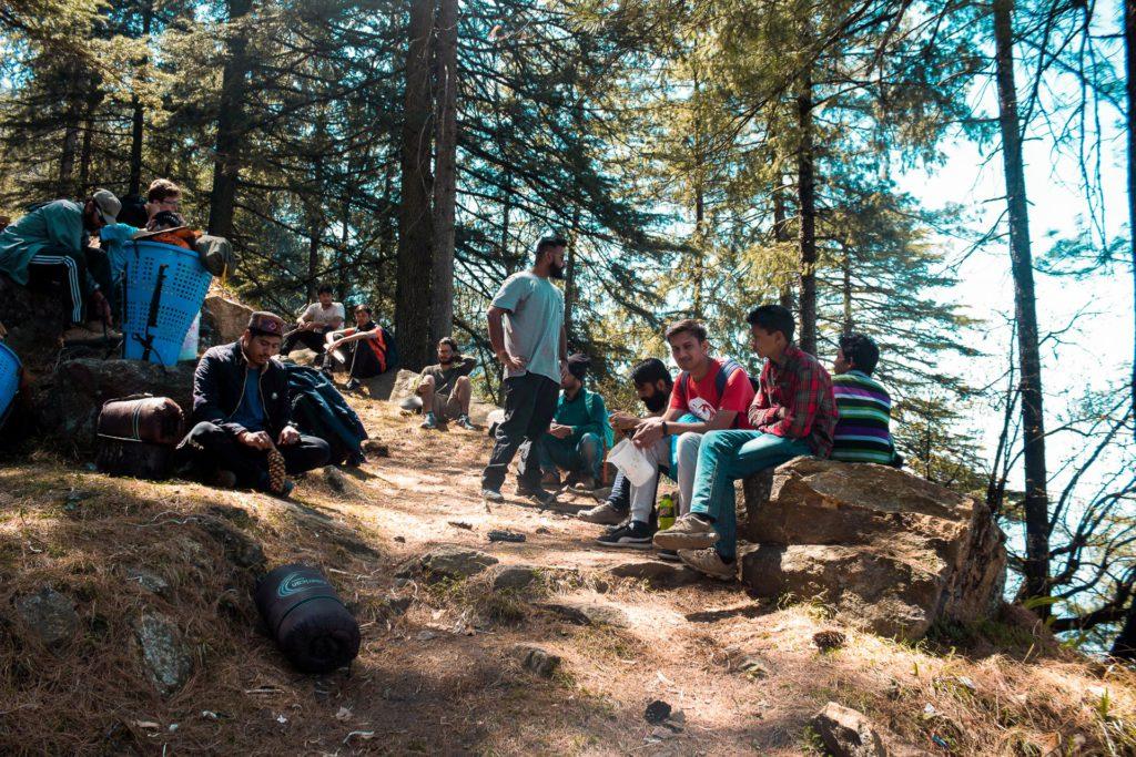 travellers in Sainj Valley