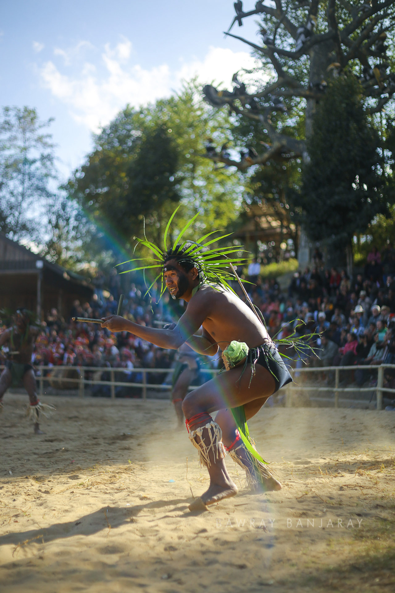 A performer attaching his opponent at the Hornbill last year