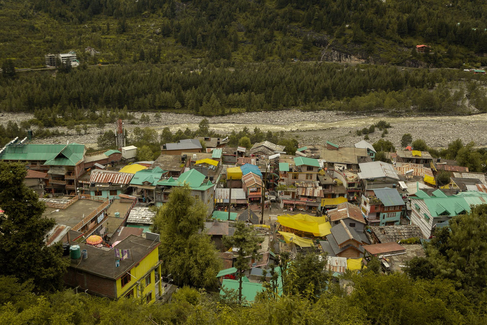 view of vashisht village from balcony