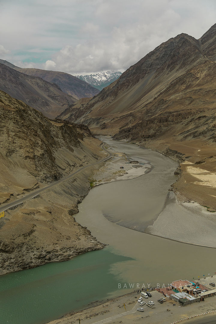 Sangam of Indus and Zanskar Rivers in Ladakh is a must see place near Leh