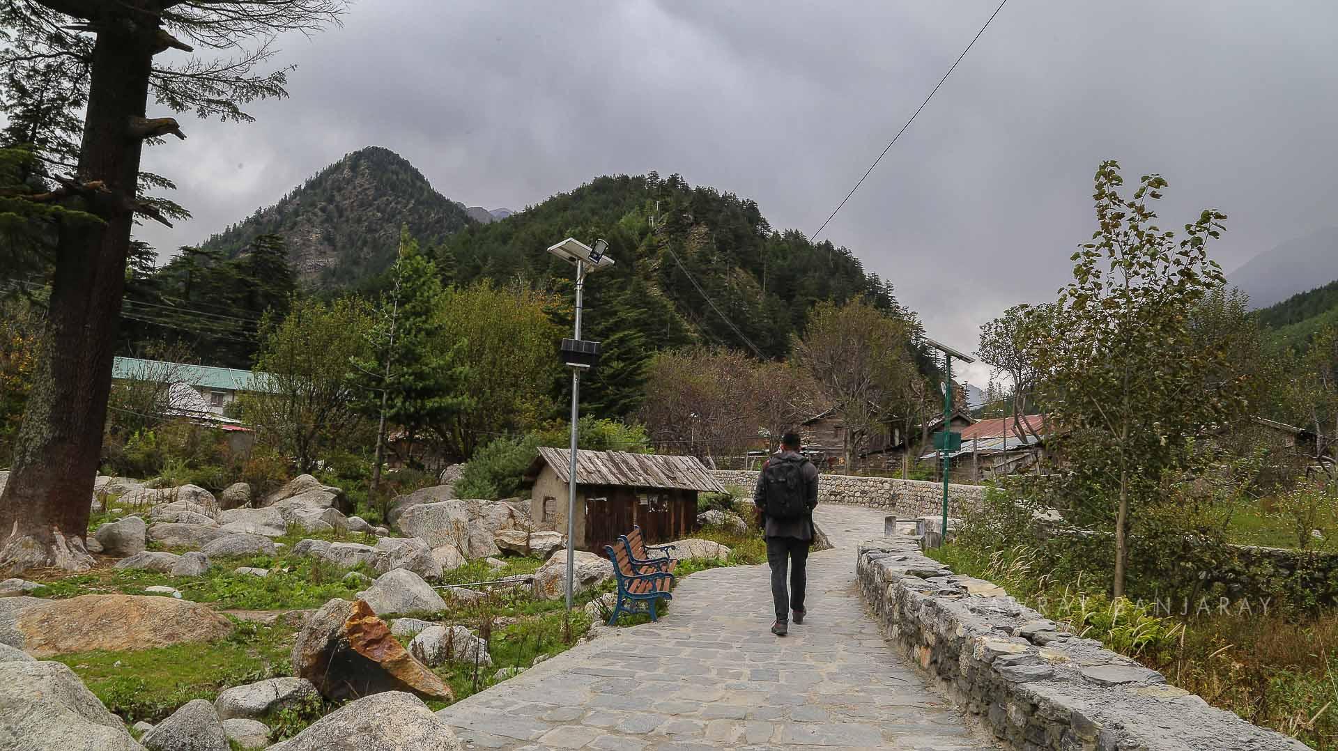 a walk in harsil village