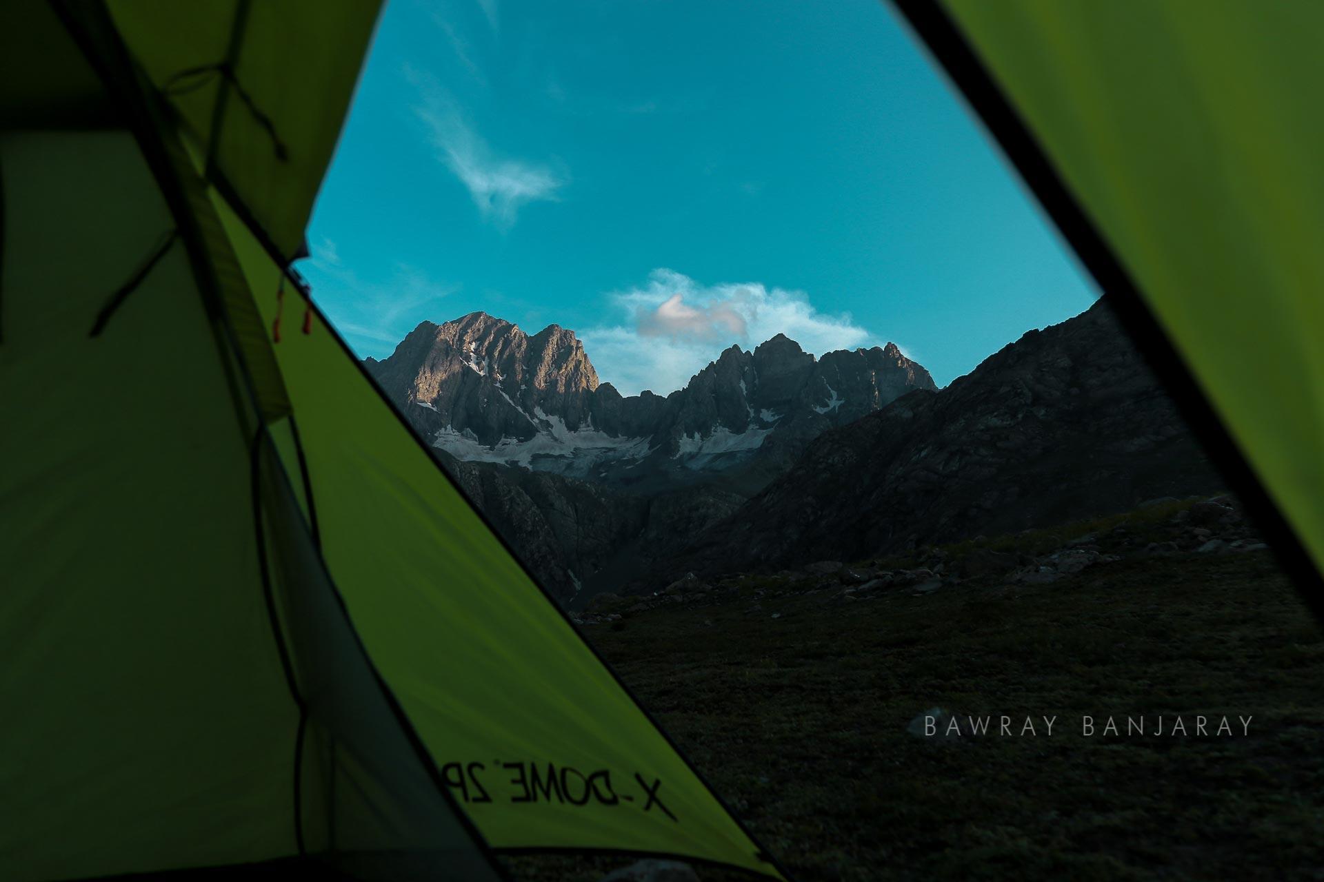 Camping at Gadsar Pass