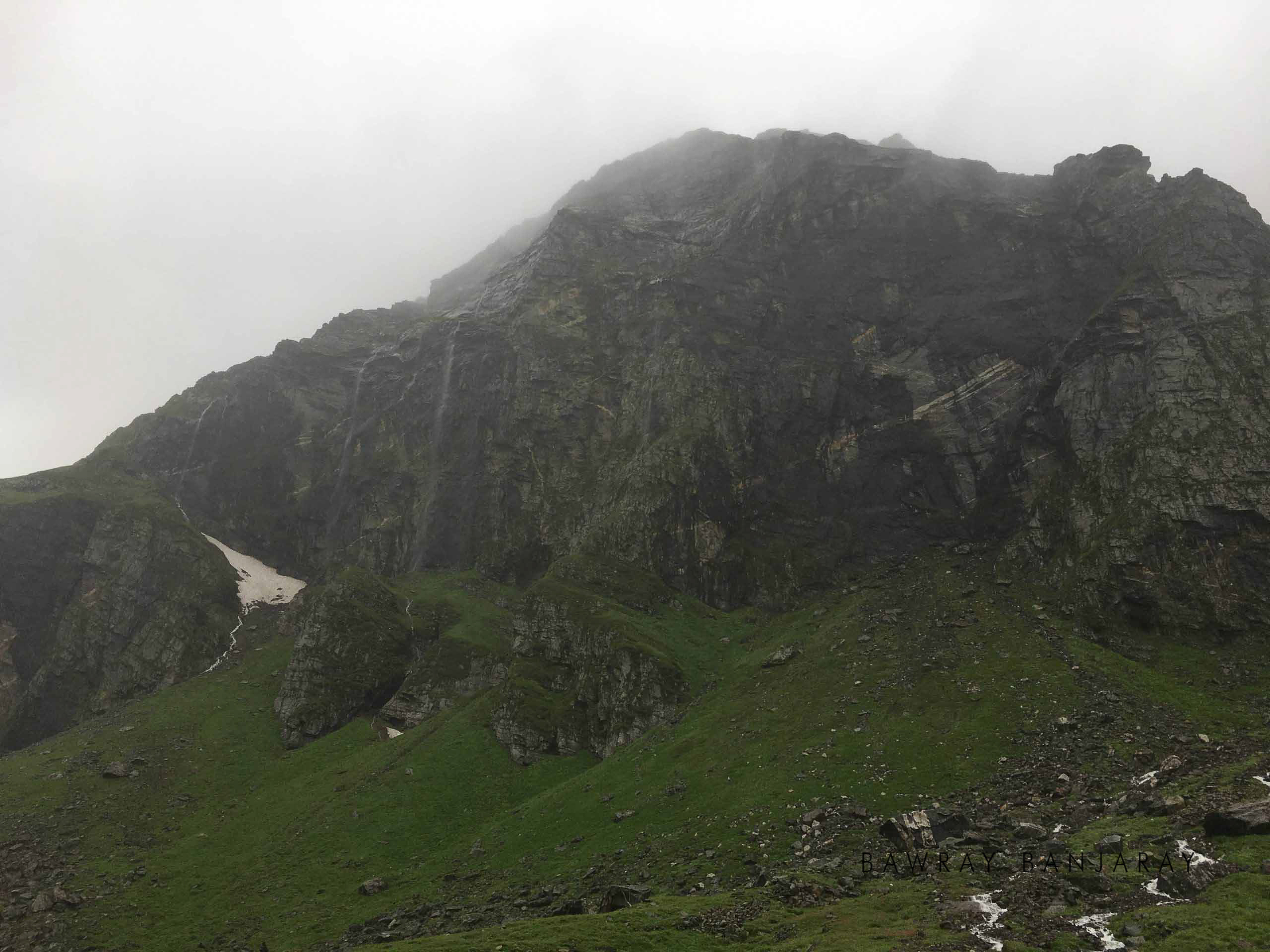 Waterfalls on way to the Hampta Pass Trek