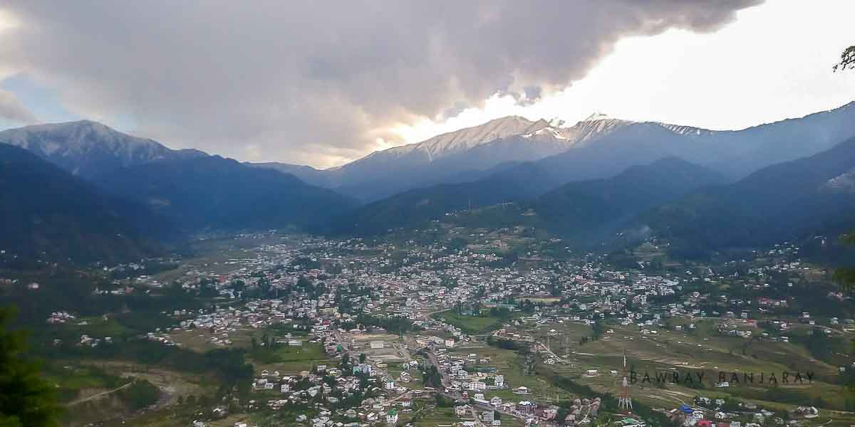 Bhaderwah on a cloudy evening
