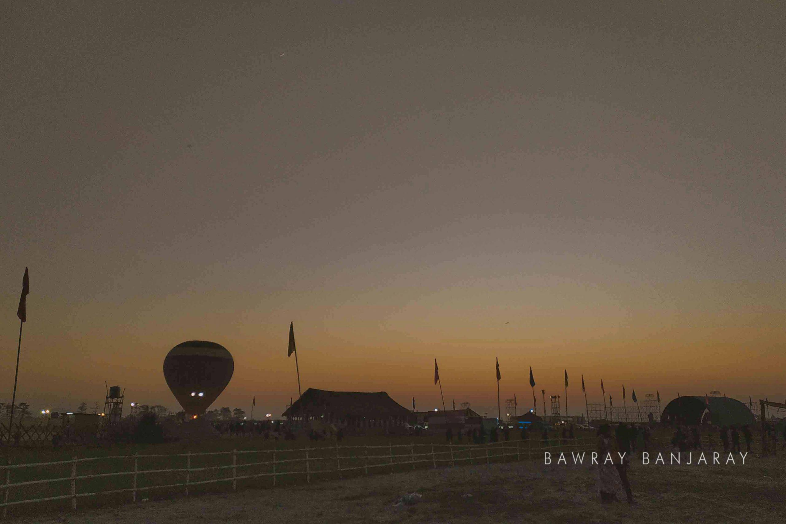 Hot air balooning at Dwijing Festival