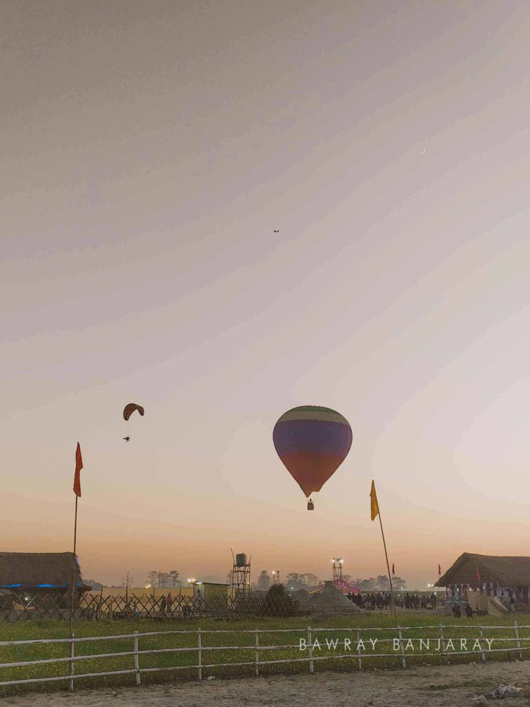 Hot air balloning at Dwijing Festival Bodoland