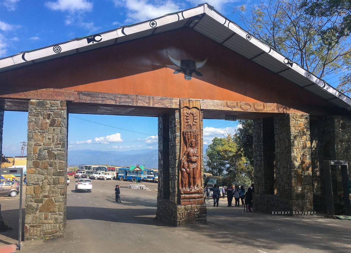 the entry gate of hornbill festival
