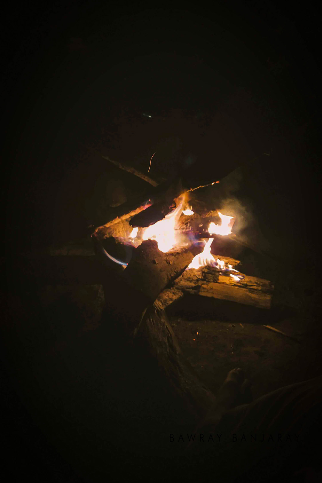 Camp Fire in Manas National Park