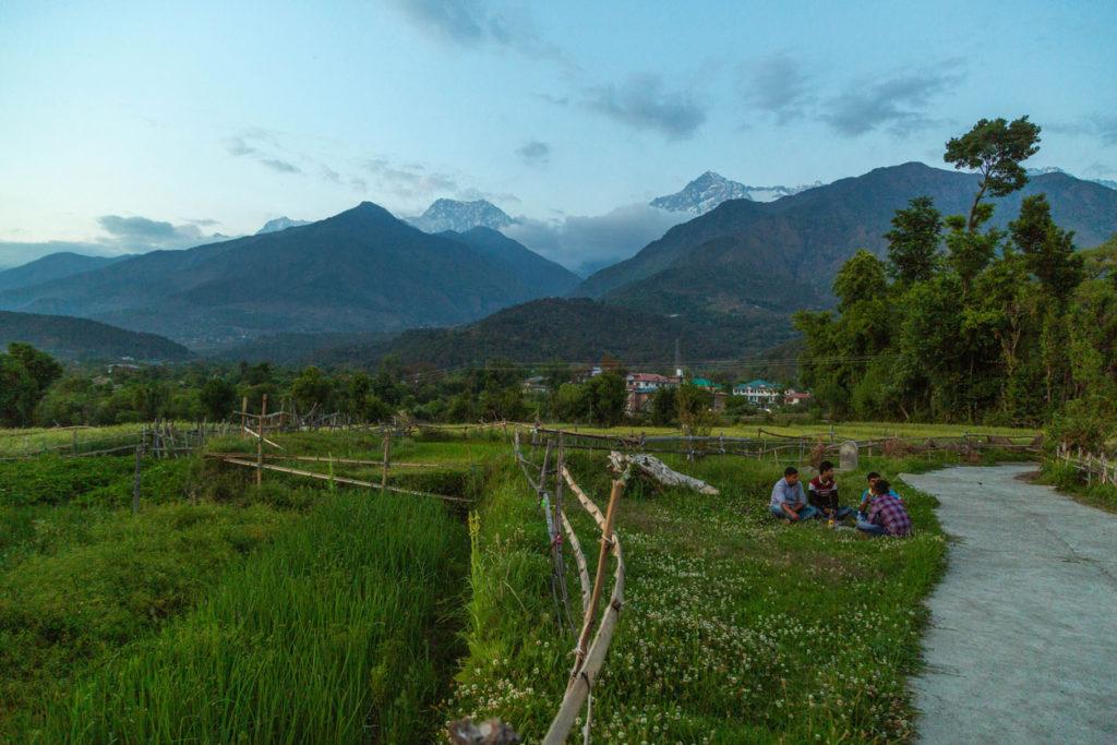 Mountain village in himachal pradesh