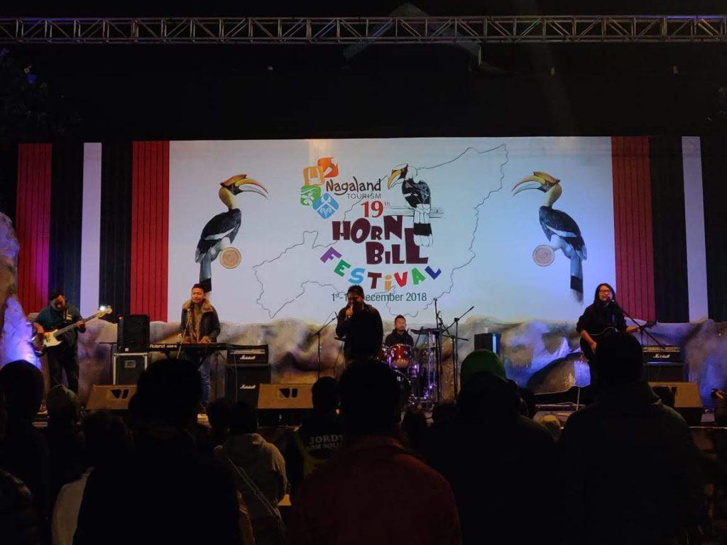 music concert at hornbill festival in Nagaland