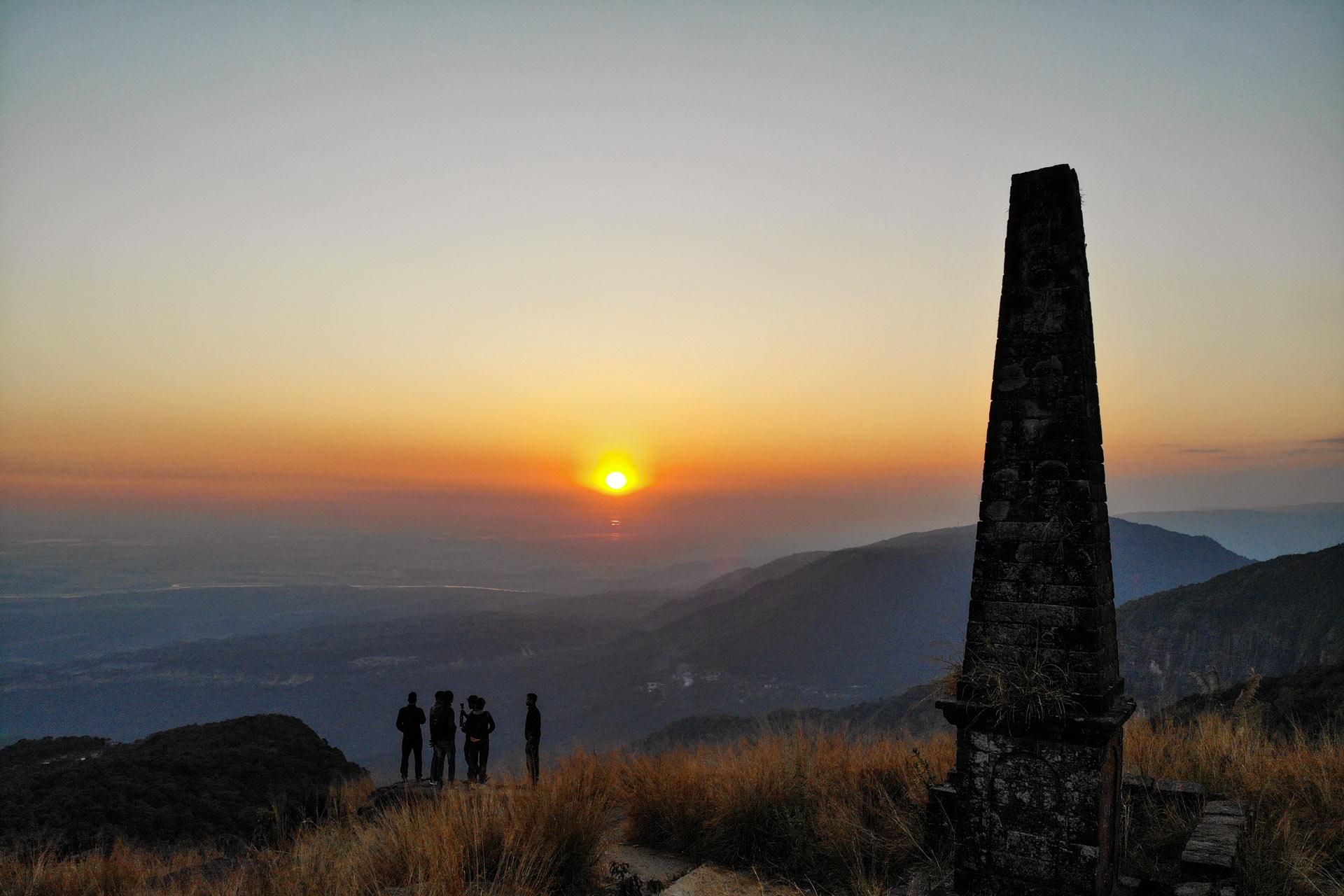 Sunset point in Sohra