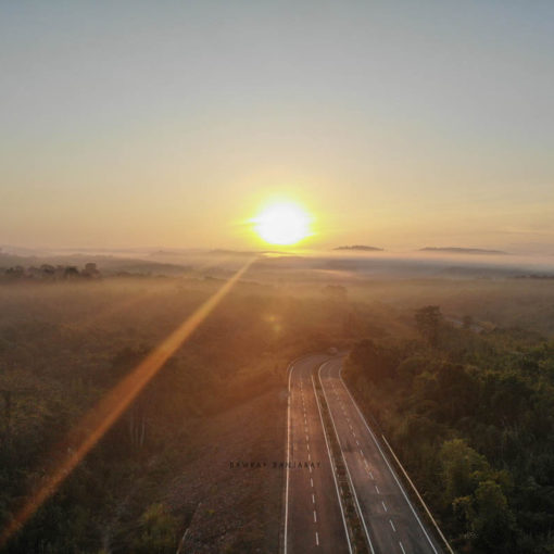 a beautiful sunrise in barak valley connecting nagaland with assam