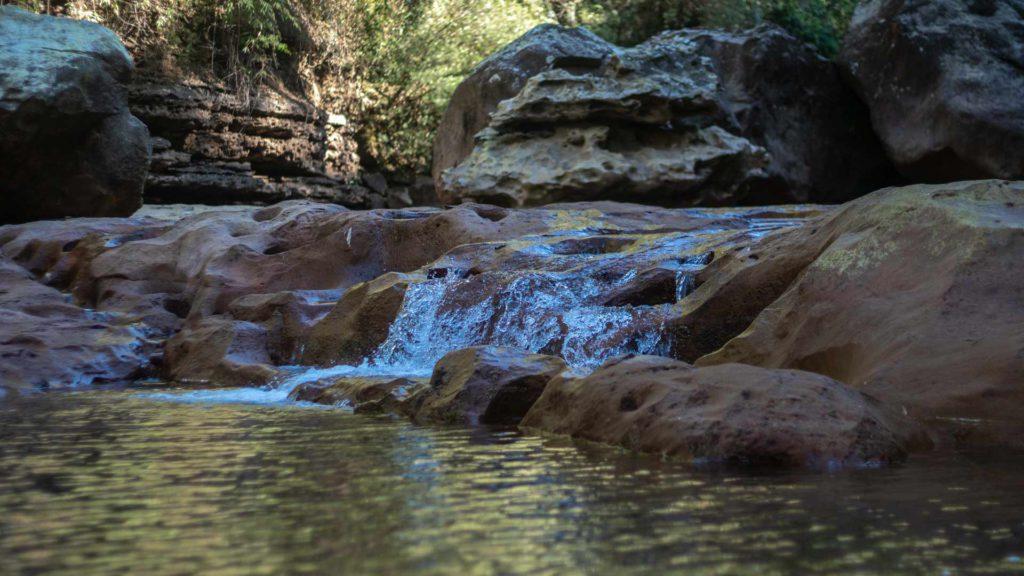 Water of Nohkhalikai Waterfalls