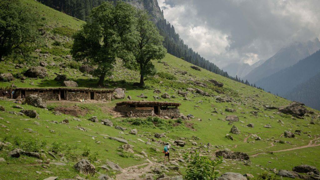 Shepherd huts on way to Shekhwas