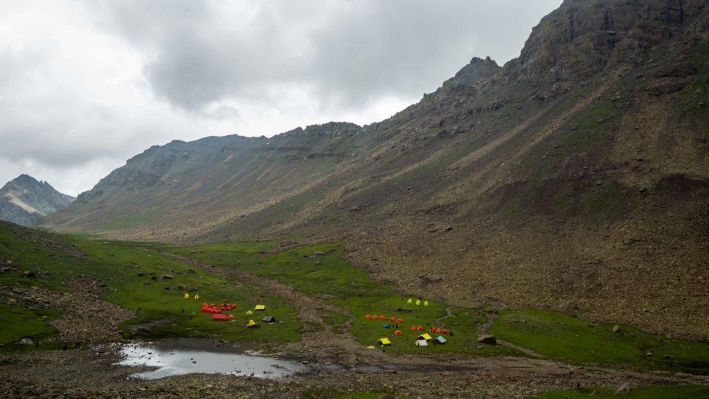 Camping area near Sundarsar Lake